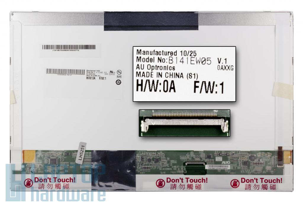 Gyári új matt 14.1'' (1280x800) LED laptop kijelző (csatlakozó: 40 pin - jobb)