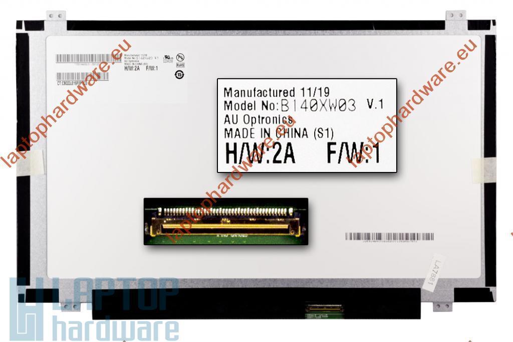 AUO (B140XW03 V.1) for HP HD 1366*768 Slim LED használt pixel hibás kijelző