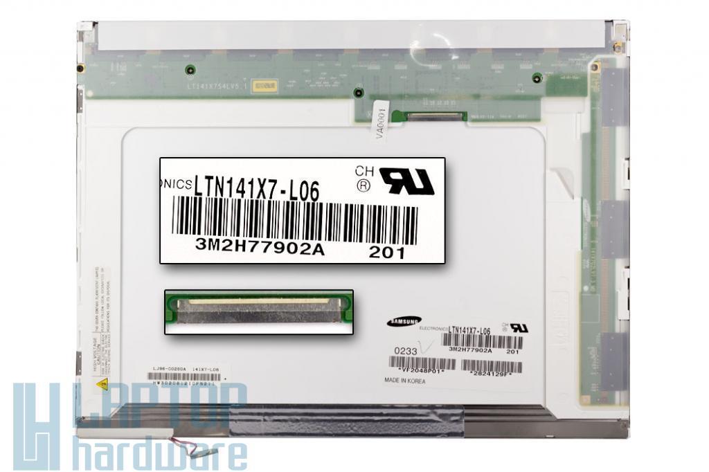 Samsung LTN141X7-L06 1024x768 használt matt kijelző