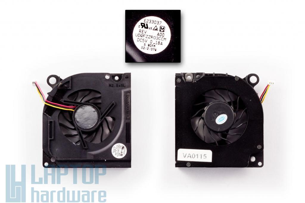 Dell Latitude D620, D630 használt laptop hűtő ventilátor (Panasonic)