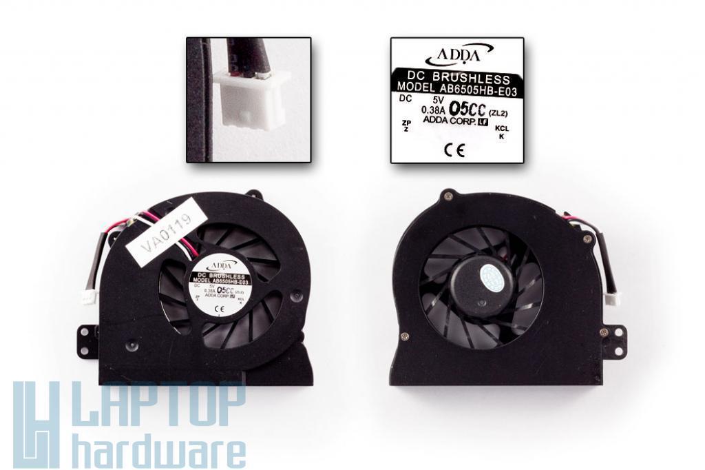 Acer Aspire 1640, 3000, 5000 használt laptop hűtő ventilátor (ADDA AB6505HB-E03)