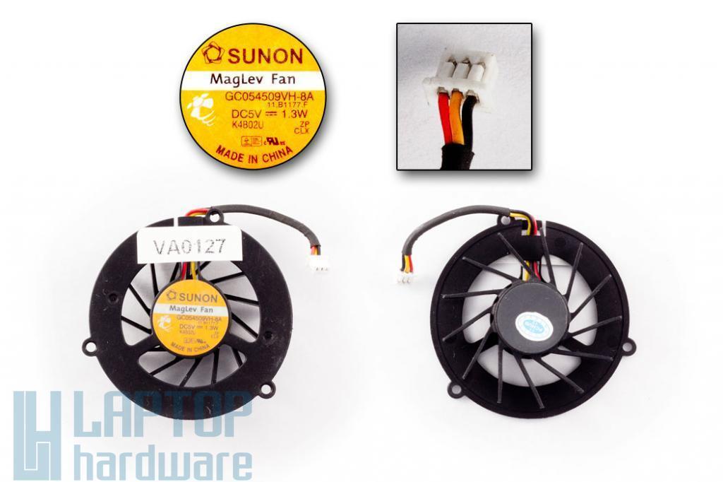 Acer Travelmate 2350, 290, Toshiba Satellite M35X használt laptop hűtő ventilátor (GC054509VH-8A)