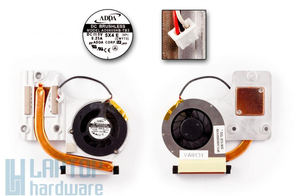 Fujitsu-Siemens Amilo L1300, L7310, L7310GW laptophoz használt komplett hűtő ventilátor egység