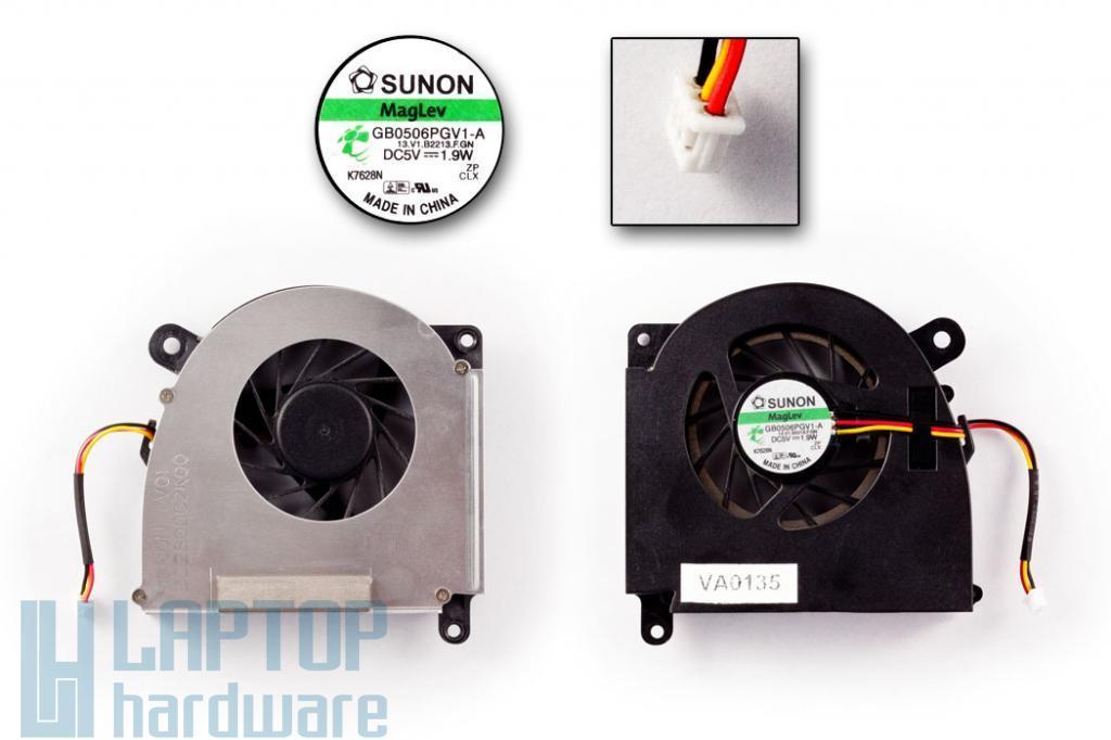 Acer Aspire 3100, 5100 sorozat használt laptop hűtő ventilátor (Sunon GB0506PGV1-A)