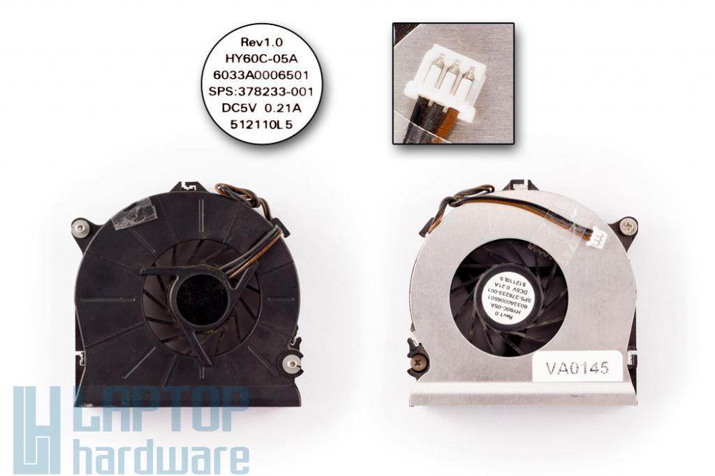 HP Compaq nc6110, nc6320, nx7300, nx7400 laptophoz használt hűtő ventilátor (SPS: 378233-001)