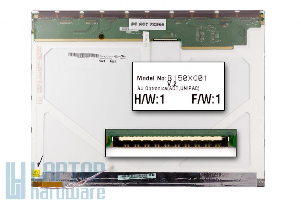 AUO 15'' XGA használt notebook kijelző B150XG01 v.2