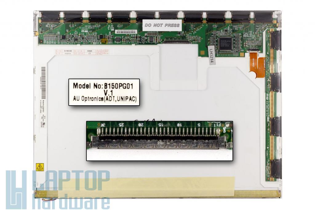 AUO B150PG01 SXGA+ 1(400x1050) használt notebook kijelző