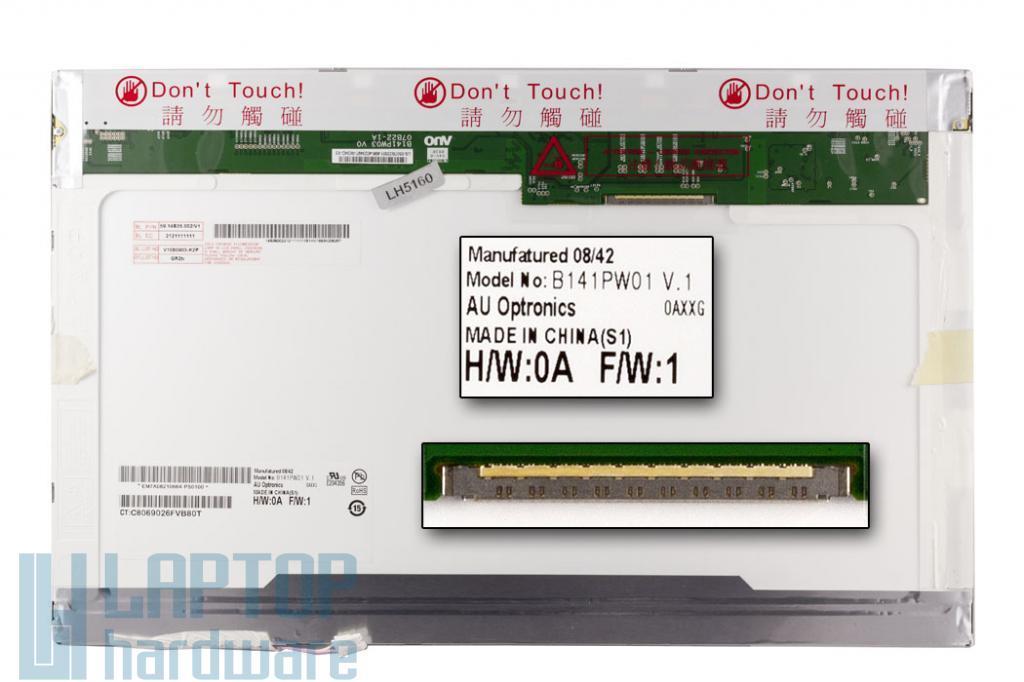 AUO B141PW01 14.1 inch WXGA+ 1440X900 matt laptop kijelző