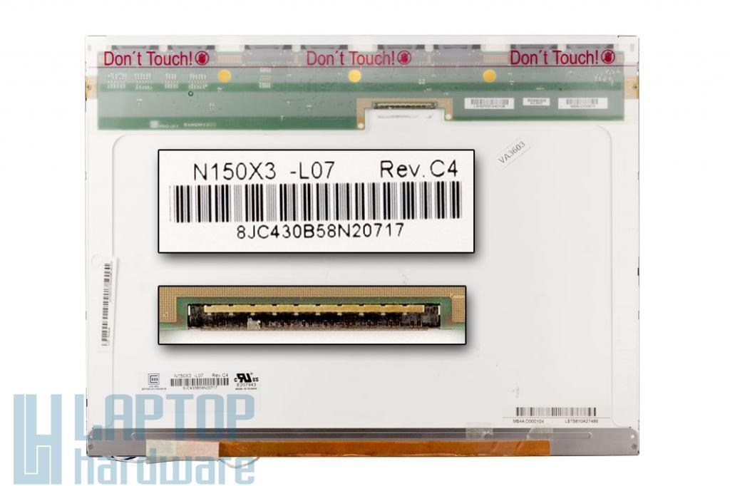 Chi-Mei N150X3 XGA 1024x768 használt matt laptop kijelző (N150X3-L07)