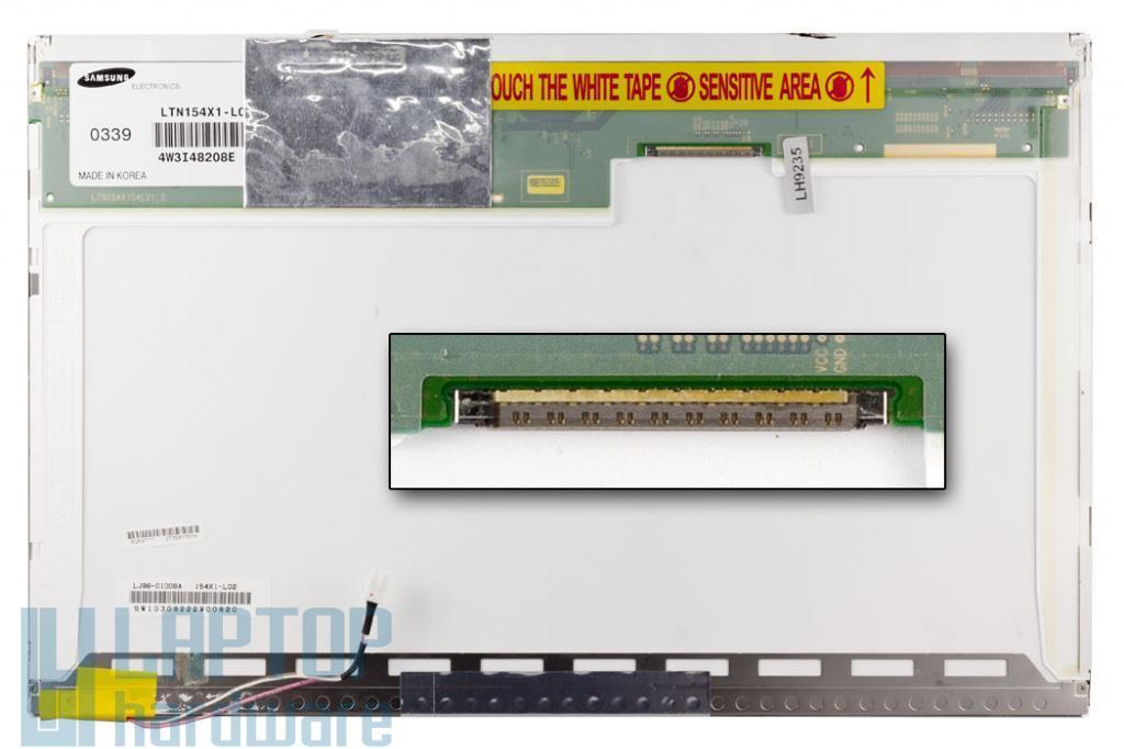 Samsung LTN154X1-L02 15.4'' WXGA használt matt laptop kijelző