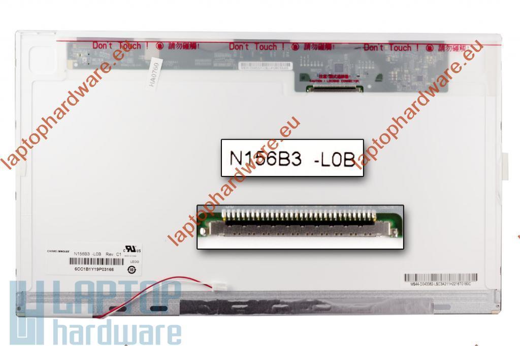 N156B3-L0B WXGA HD 1366 x 768 HD CCFL használt fényes laptop kijelző B kategóriás