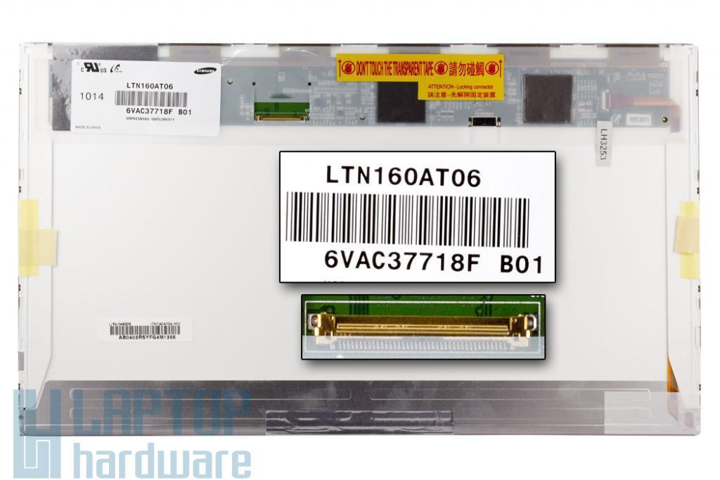 Gyári új fényes 16'' HD (1366x768) LED laptop kijelző (csatlakozó: 40 pin - jobb)