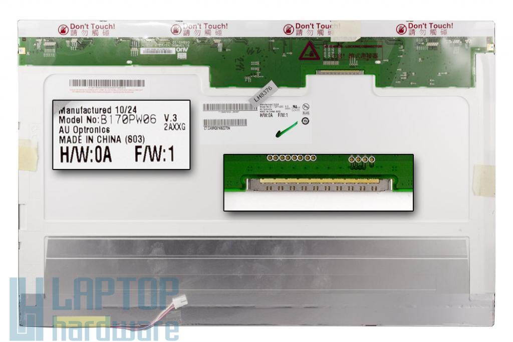 AUO B170PW06 V.3 17''  WXGA+ B kategóriás, érték csökkent, karcos laptop kijelző