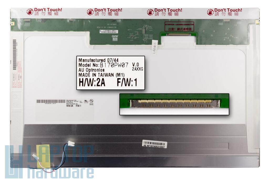 Asus G2S 17'' használt notebook kijelző B170PW06 2CCFL