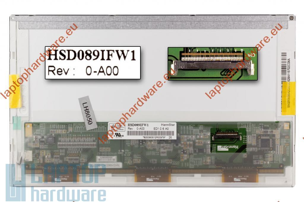 HannStar HSD089IFW1-A00 használt matt LED netbook kijelző