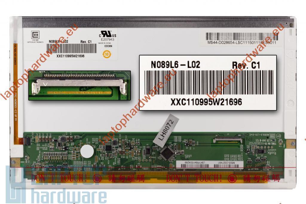 Chi-Mei N089L6-L02 használt fényes LED netbook kijelző