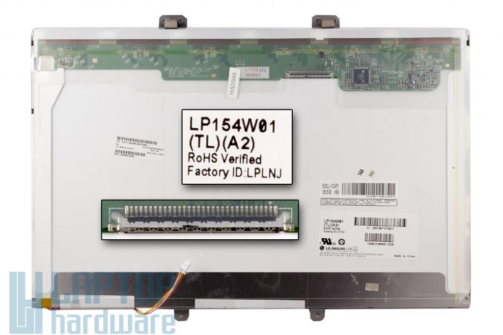 LG LP154W01-TLA2 15,4 inch WXGA CCFL használt fényes laptop kijelző