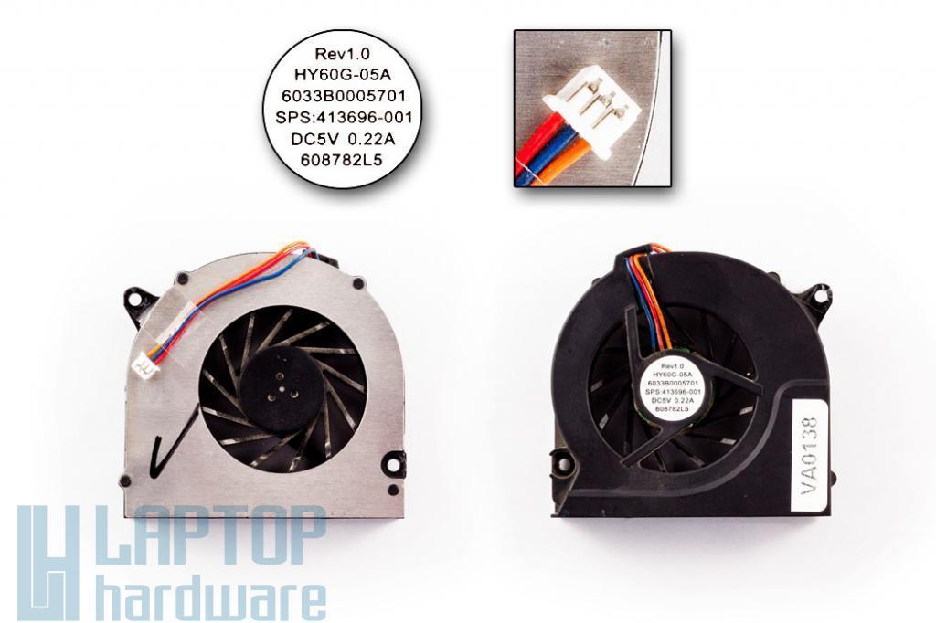 HP 6510b, 6515b, 6520s használt hűtő ventilátor SPS 443917-001