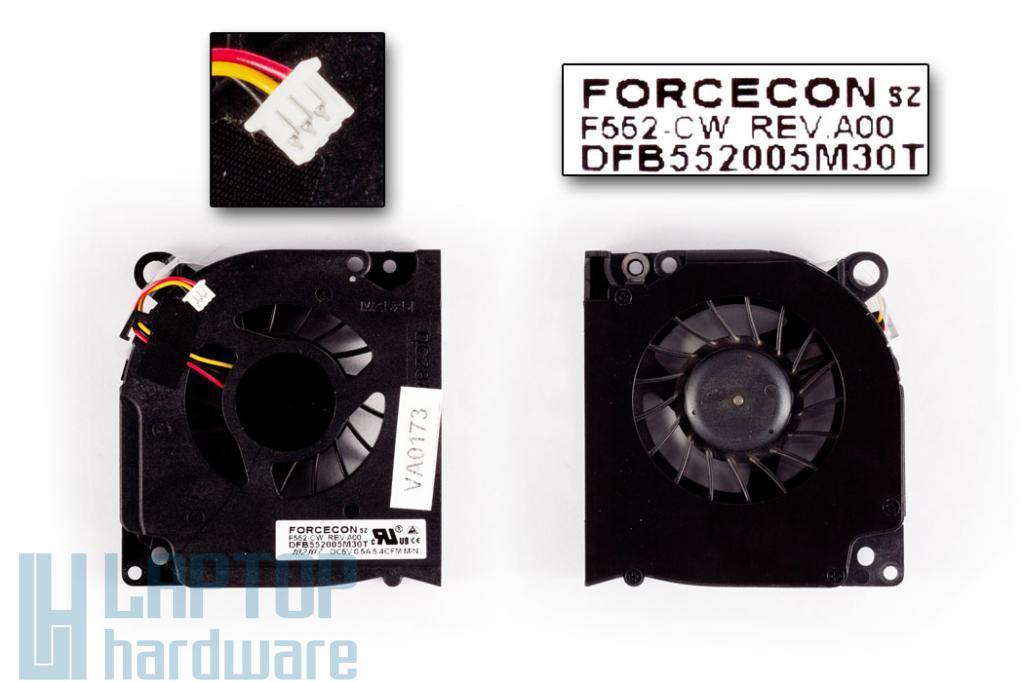 Dell Latitude D620, D630 használt laptop hűtő ventilátor (Forcecon)