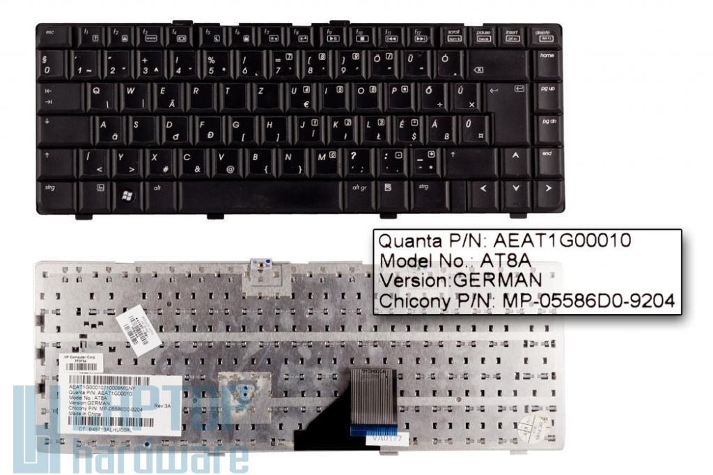 HP Pavilion DV6000, DV6100, DV6200 használt magyarított fekete laptop billentyűzet (431414-031)