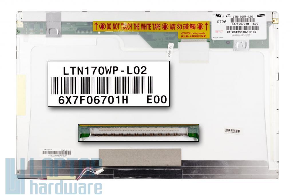 MSI MS-1036 Samsung LTN170WP-L02 1680x1050 WSXGA+ notebook kijelző