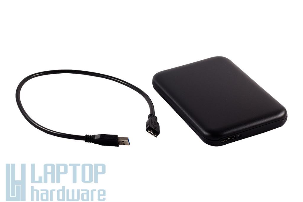 2.5'' SATA HDD USB3.0-s fekete külső ház