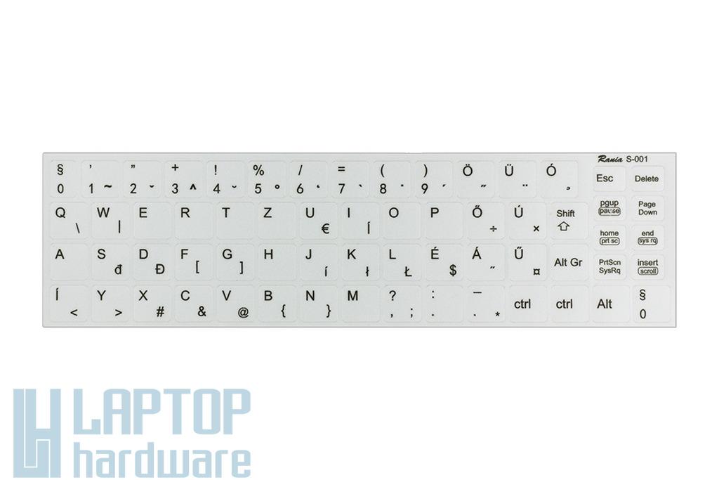 3M fehér kopásálló gyári minőségű magyar bevonat fekete betűvel, SONY Vaio VPC-E* laptopokhoz, S-001