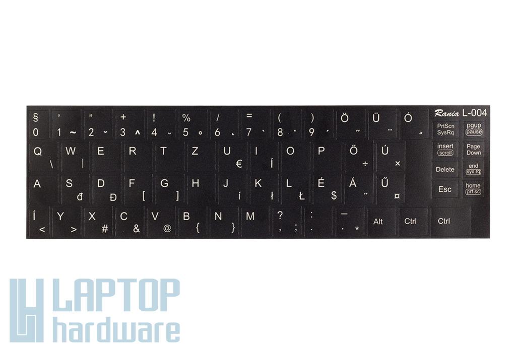 3M fekete kopásálló gyári minőségű magyar bevonat fehér betűvel IBM Lenovo laptopokhoz RANIA L-004