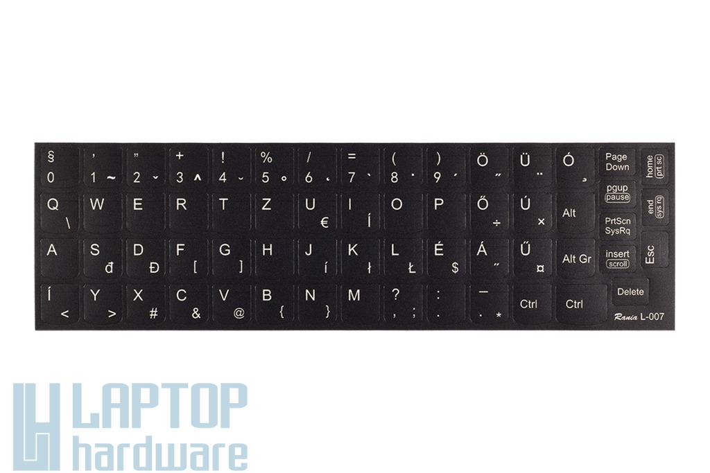 3M fekete kopásálló gyári minőségű magyar bevonat fehér betűvel, Lenovo IdeaPad B560, G560 laptopokhoz, L-007