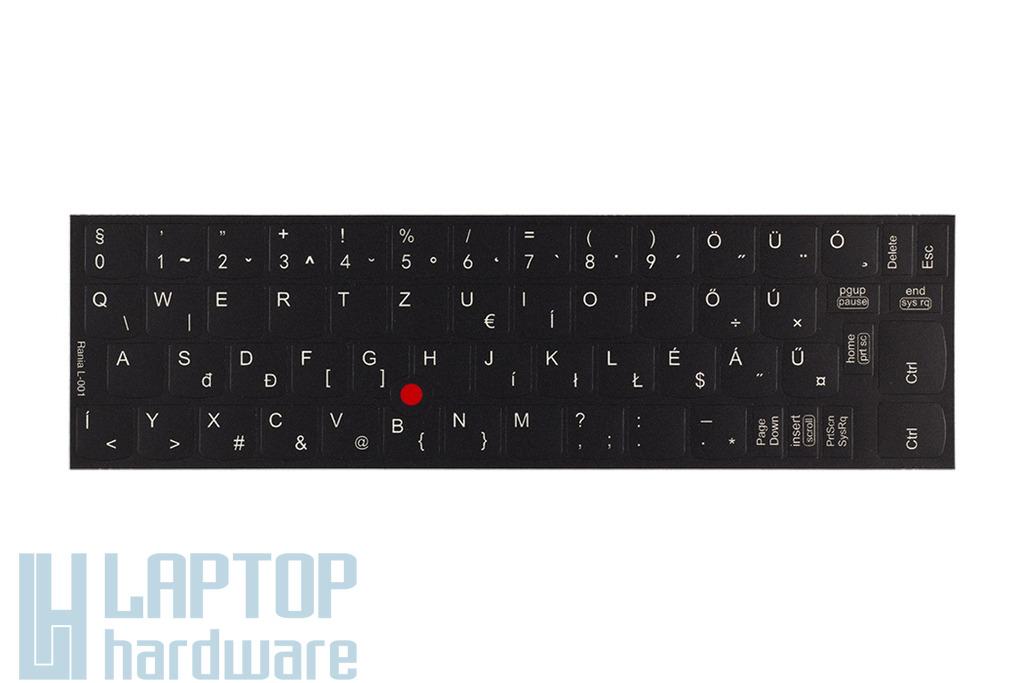 3M fekete kopásálló gyári minőségű magyar bevonat fehér betűvel, Lenovo ThinkPad laptopokhoz, L-001