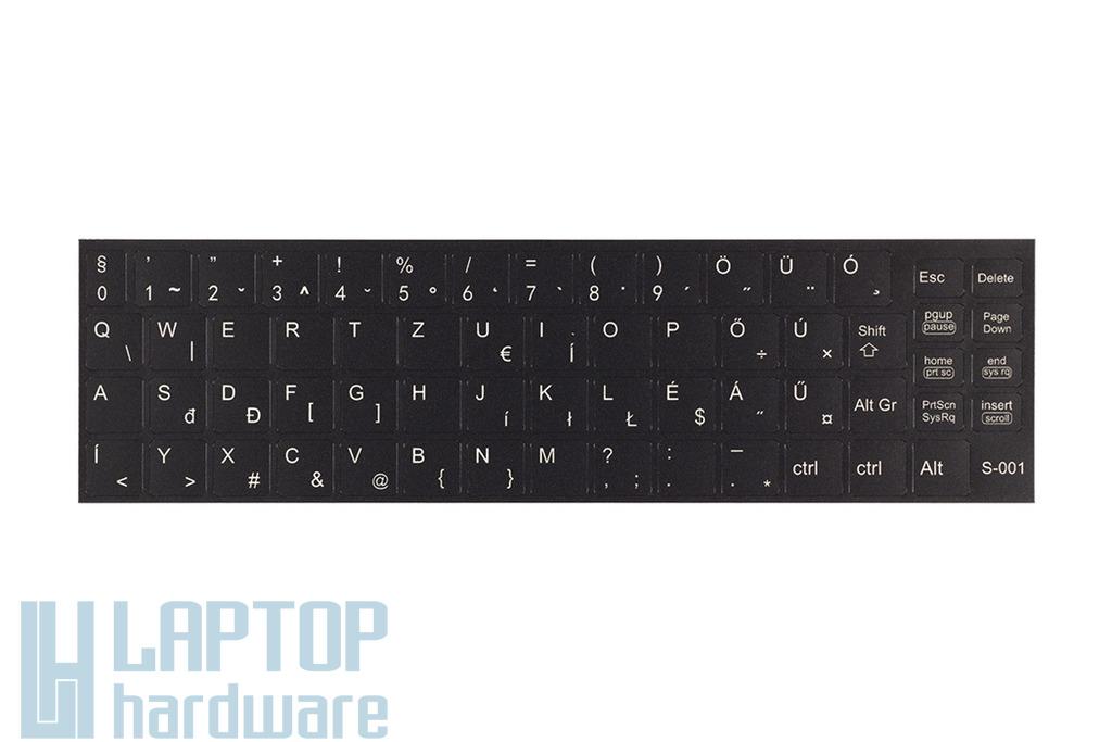 3M fekete kopásálló gyári minőségű magyar bevonat fehér betűvel, SONY laptopokhoz, S-001