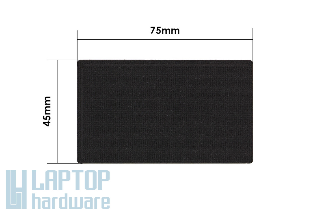 3M fekete kopásálló bevonat gyári minőségű laptop touchpad matrica (75x45mm)