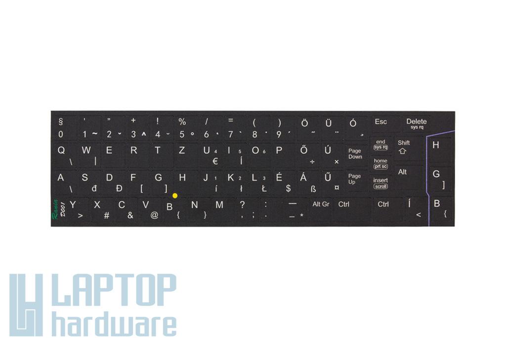 3M fekete kopásálló gyári minőségű magyar bevonat fehér betűvel, Dell Latitude laptopokhoz, D-001