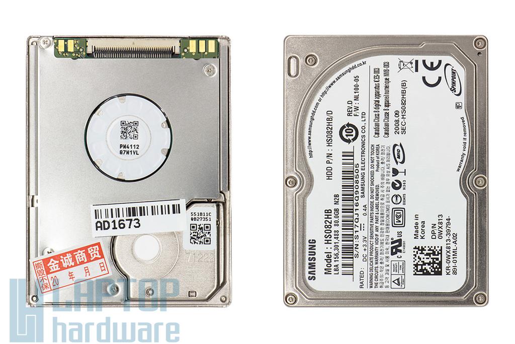 80GB 3600RPM 1.8'' IDE (PATA, Ultra ATA-100) gyári új laptop winchester, HDD