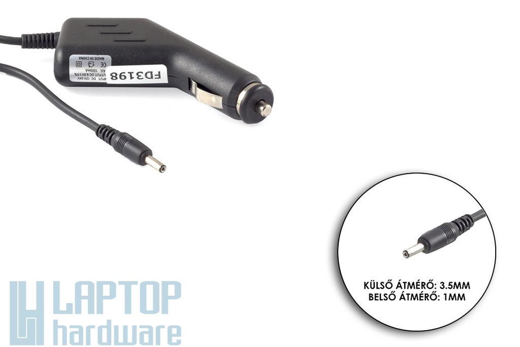 9V 1.5A 13.5W 3.5mm/1mm helyettesítő autós tablet töltő