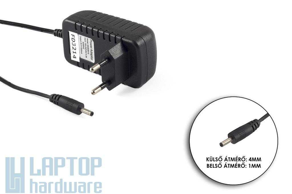 9V 1.5A 13.5W 4mm/1mm helyettesítő tablet töltő