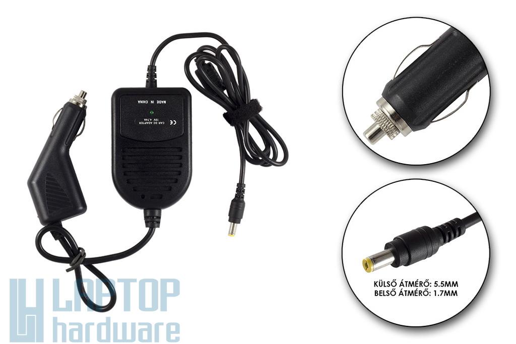 Acer 19V 4.74A 90W helyettesítő új autós laptop töltő (LC.ADT01.006, PA-1700-02)