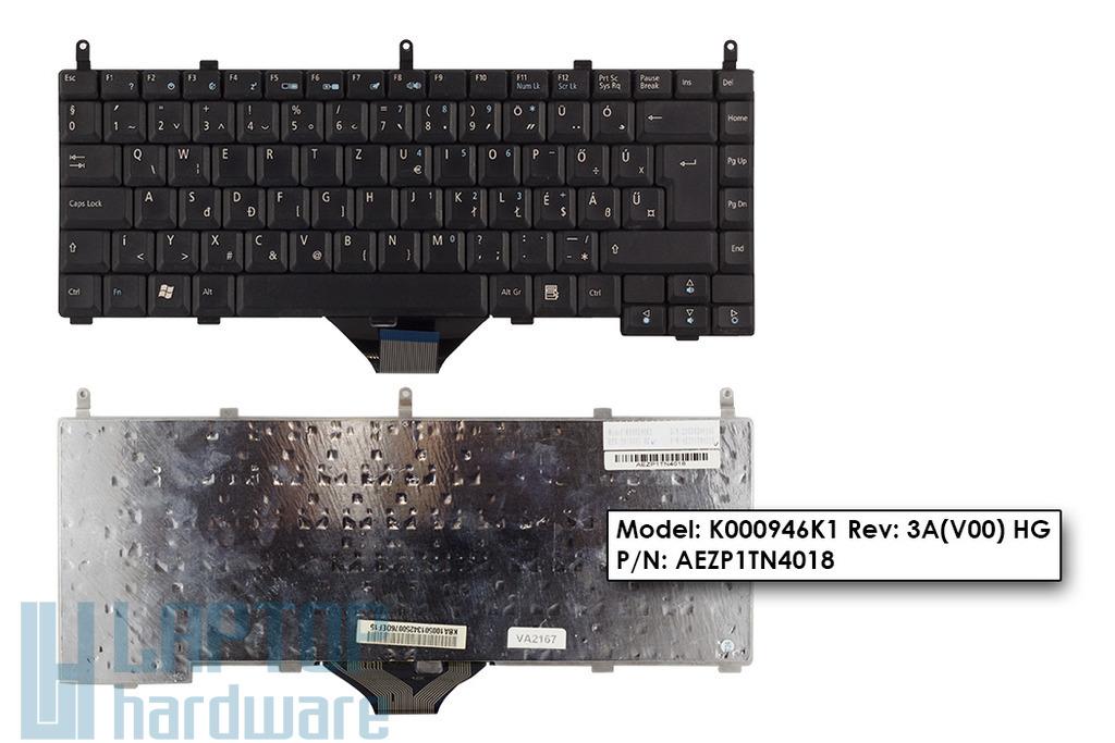 Acer Aspire 1350, 1353, 1355, 1510, 1511 használt magyar fekete laptop billentyűzet (K000946K1)