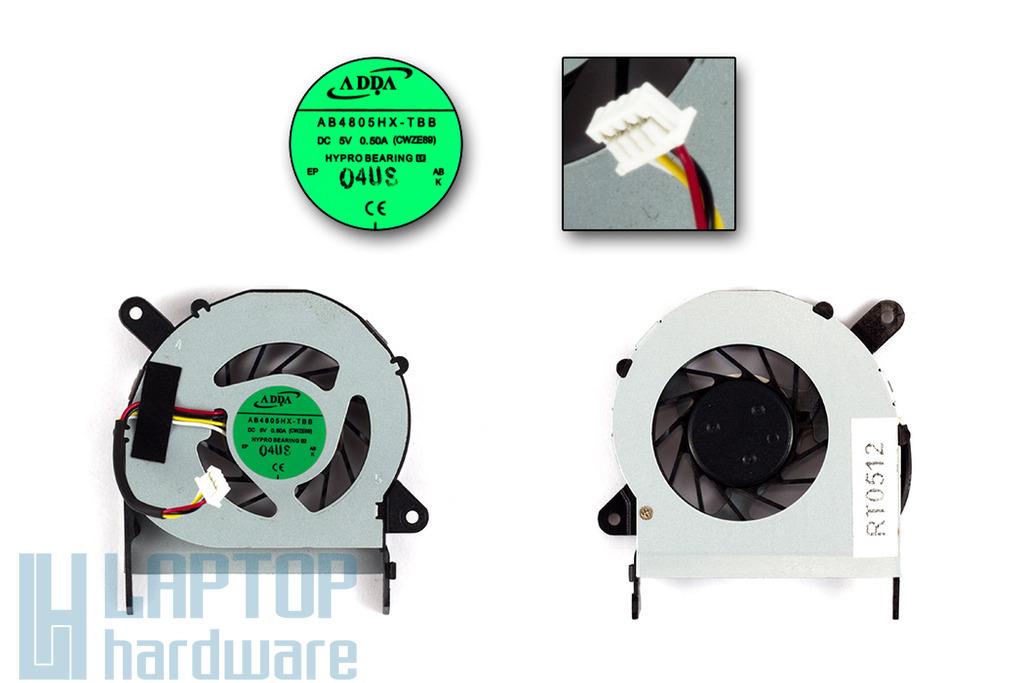 Acer Aspire 1410, 1410T, 1810, 1810TZ gyári új laptop hűtő ventilátor (AB4805HX-TBB)