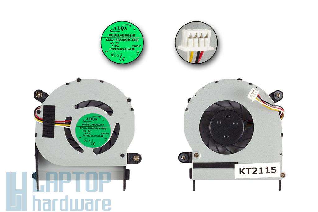 Acer Aspire 1410, 1410T, 1810, 1810TZ gyári új laptop hűtő ventilátor (AB6305HX-RBB)