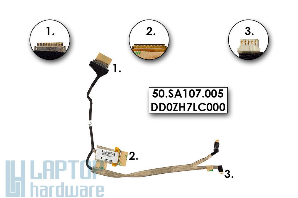 Acer Aspire 1410, 1810TZ, One ZH7 (11.6 inch) Gyári Új kijelző kábel (50.SA107.005)