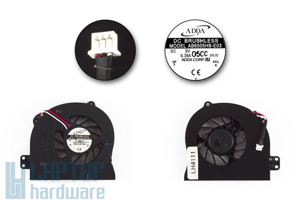 Acer Aspire 1640, 3000, 5000 gyári új laptop hűtő ventilátor (ADDA AB6505HB-E03)