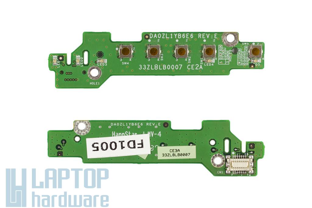 Acer Aspire 1640, 3000, 5000 laptophoz használt bekapcsoló panel, power buttom board, 33ZL8LB007