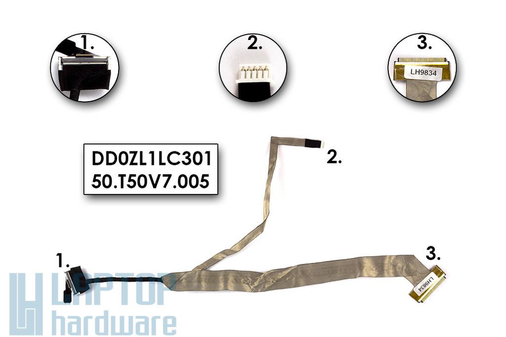 Acer Aspire LCD kijelző szalag kábel, DD0ZL1LC301  (15.4)