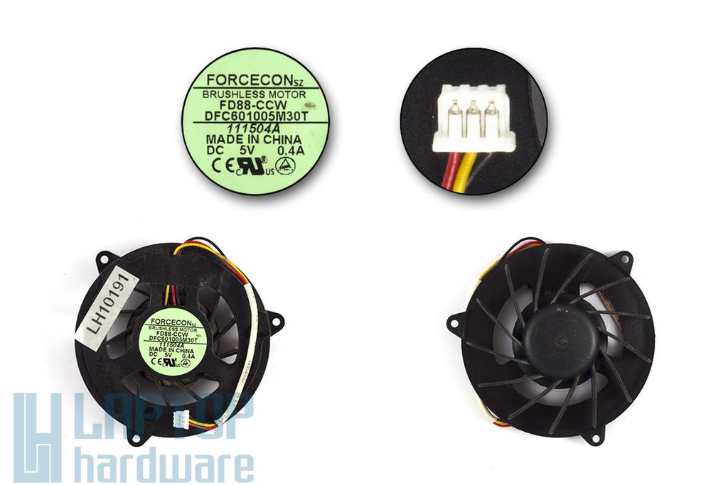 Acer Aspire 1670, 1672WLMi, Travelmate 2200, 2700 használt laptop hűtő ventilátor (DFC601005M30T)