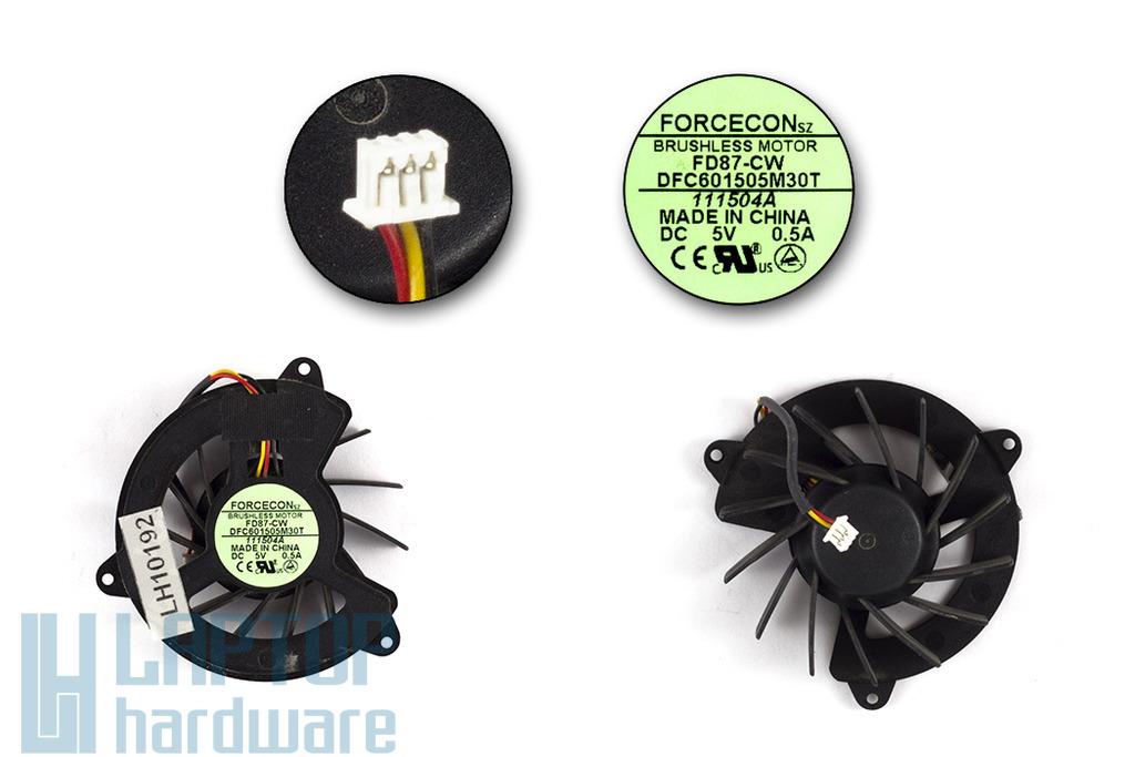 Acer Aspire 1670, Travelmate 2200, 2700 használt laptop hűtő ventilátor (DFC601505M30T)