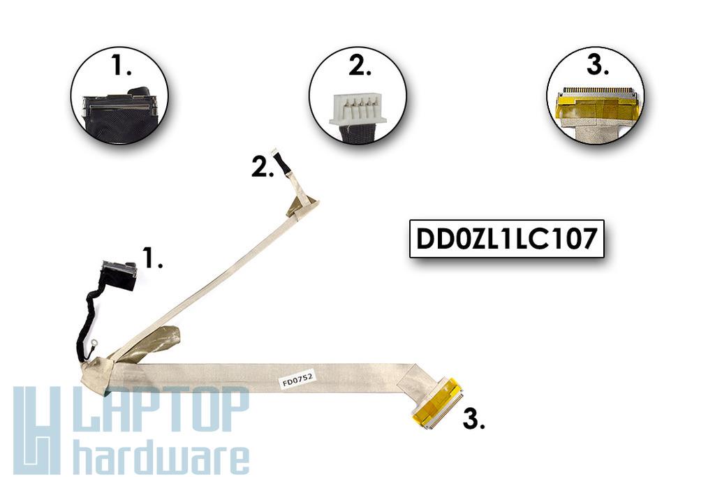 Acer Aspire 1690 laptophoz használt kijelző kábel, DD0ZL1LC107