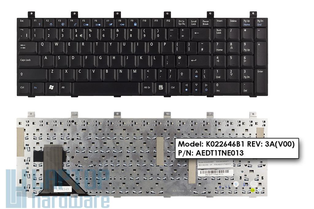 Acer Aspire 1700, 1710 gyári új angol fekete laptop billentyűzet (KB.A1506.016)