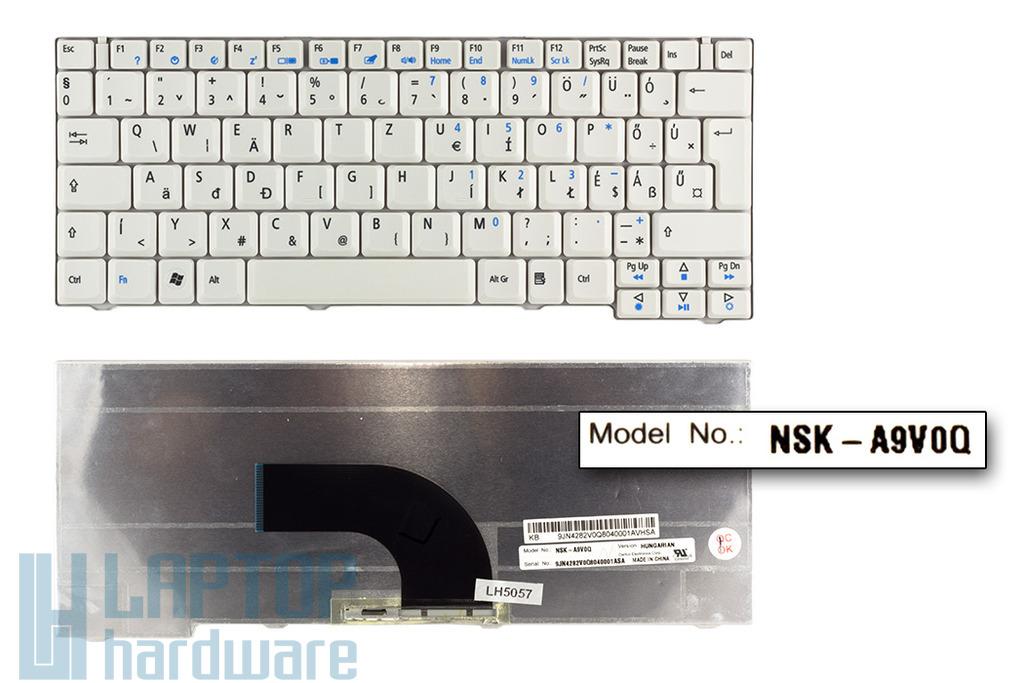 Acer Aspire 2420, 2920, 2920Z gyári új magyar fehér laptop billentyűzet (NSK-A9V0Q)