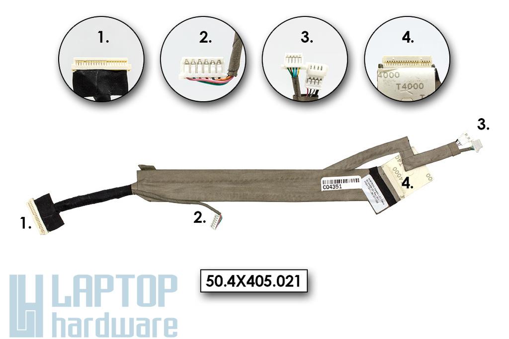 Acer Aspire 2420, 2920 gyári új laptop LCD (12.1'') kábel (50.ANK01.005)